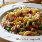 Macaroni Soup with Ham