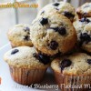 Almond Blueberry Flaxseed Muffins