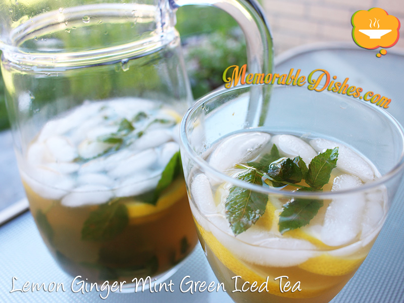 Lemon Ginger Mint Green Iced Tea
