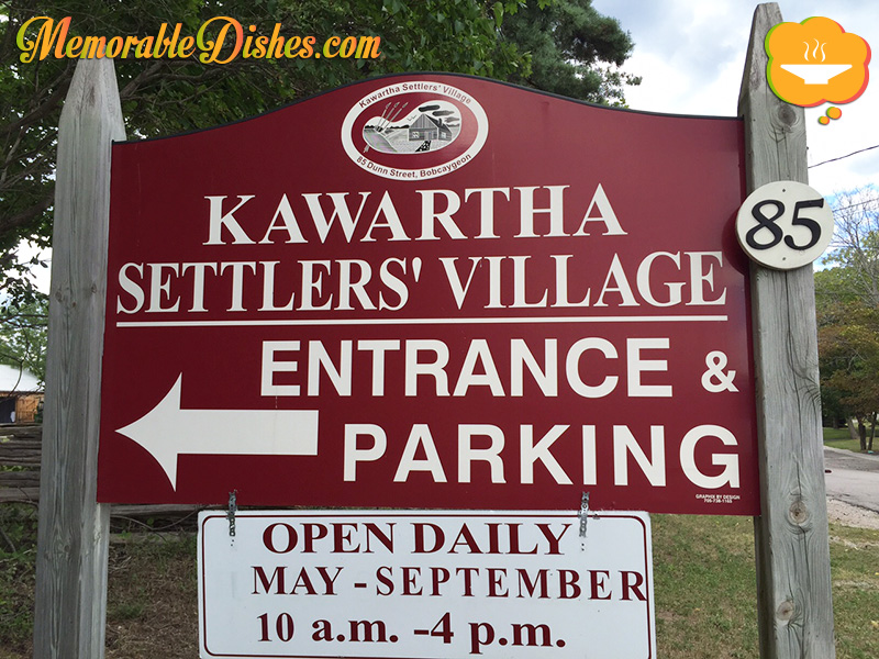 Kawartha Settler's Village Entrance Sign