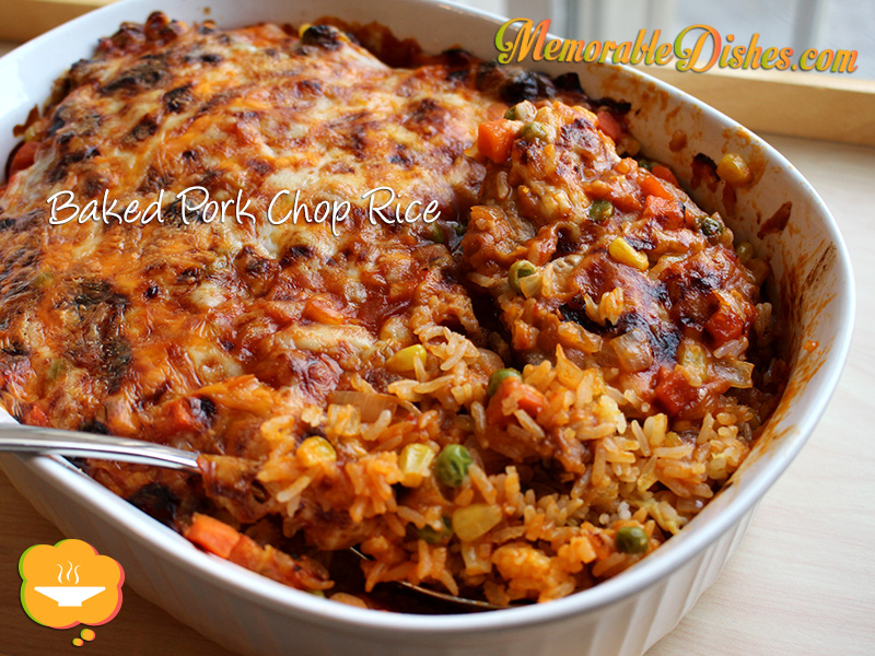 Baked Pork Chop Rice