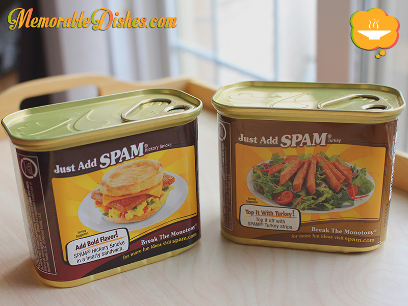 Cans of Spam (back)