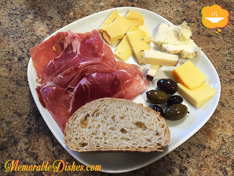 Proscuitto & Cheese Plate