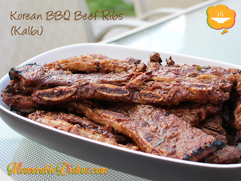 Korean BBQ Beef Ribs (Kalbi)
