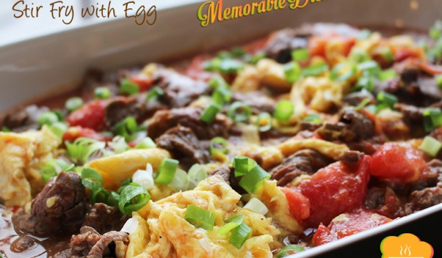 Tomato Beef Stir Fry with Egg